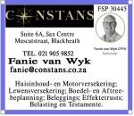 CONSTANS FINANCIAL SERVICES